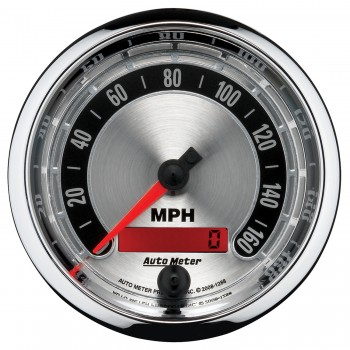 """3-3/8"""" SPEEDOMETER, 0-160 MPH, ELECTRIC, AMERICAN MUSCLE"""