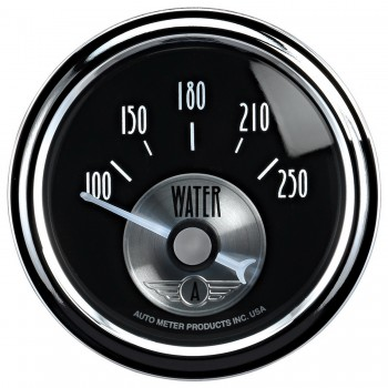 "2-1/16"" WATER TEMPERATURE, 100-250 °F, AIR-CORE, PRESTIGE BLACK DIAMOND"