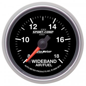 "2-1/16"" WIDEBAND AIR/FUEL RATIO, ANALOG, 8:1-18:1 AFR, SPORT-COMP II"