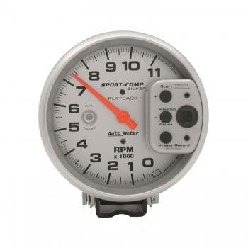 "5"" PEDESTAL PLAYBACK TACHOMETER, 0-11,000 RPM, ULTRA-LITE"