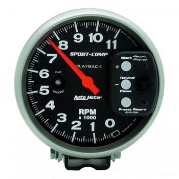 "5"" PEDESTAL PLAYBACK TACHOMETER, 0-11,000 RPM"