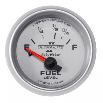 "Auto Meter AutoGage 0 - 90 Ohm Electric GM CHEVY FUEL LEVEL GAUGE 2 5//8/"" F E"