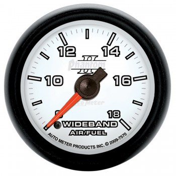 "2-1/16"" WIDEBAND AIR/FUEL RATIO, ANALOG, 8:1-18:1 AFR, PHANTOM II"