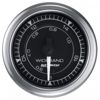 "2-1/16"" WIDEBAND AIR/FUEL RATIO, ANALOG, 8:1-18:1 AFR, STEPPER MOTOR, CHRONO"
