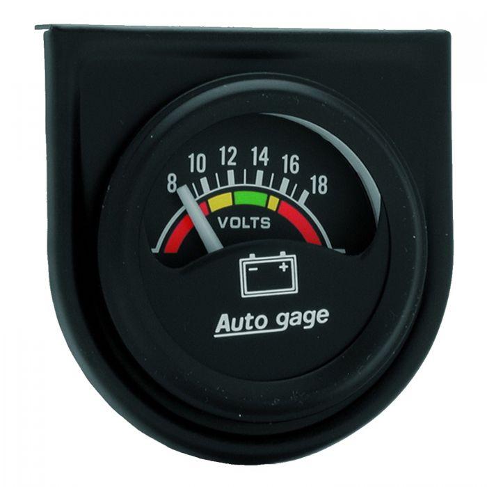 2 Inch Voltmeter Gauge Kit Autogage by AutoMeter 2339