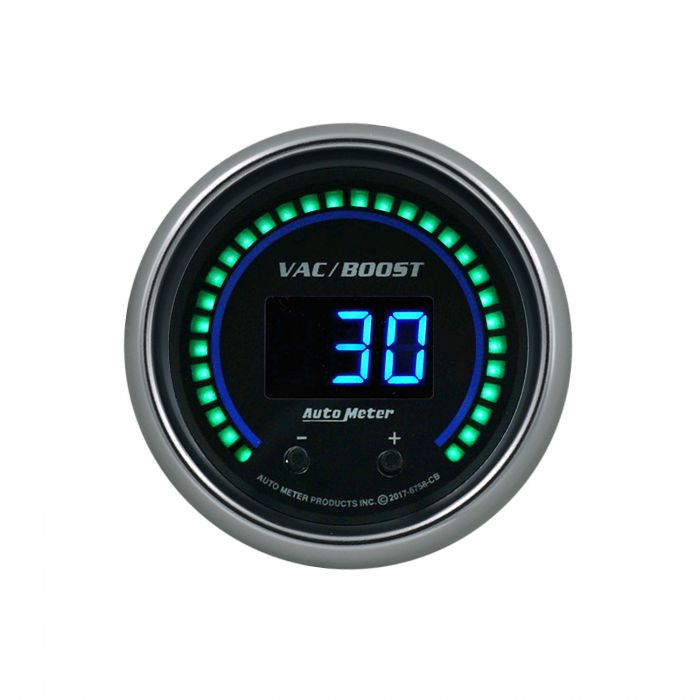 Sport-Comp Elite Digital Two Channel 2 1//16 Vac//Boost Selectable AutoMeter 6758-SC Gauge