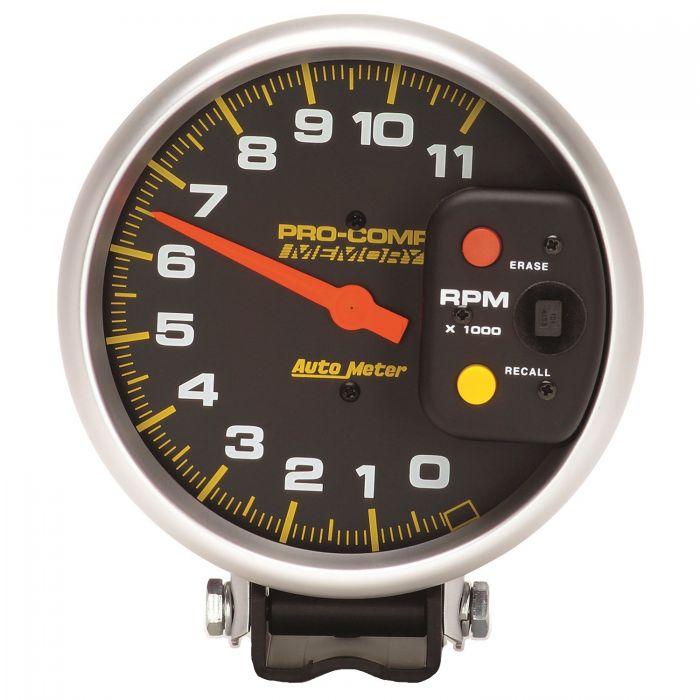 5 Tachometer 0 11 000 Rpm Pedestal W Peak Memory Pro Comp