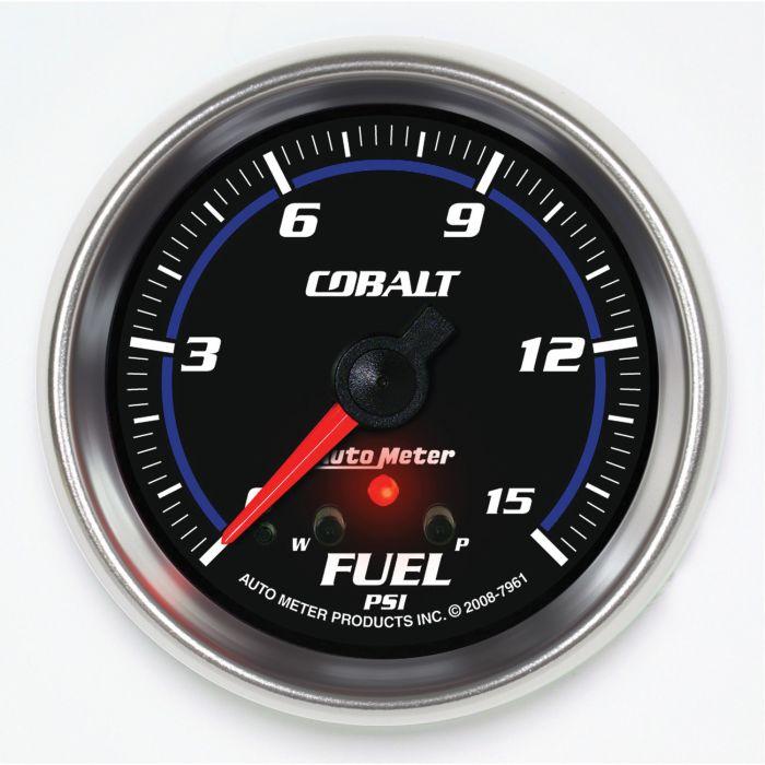 "AutoMeter 5461 Pro-Comp 2-5//8/"" Fuel Pressure Gauge 0-15 PSI Electrical"