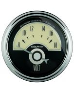 "2-1/16"" VOLTMETER, 8-18V, AIR-CORE, CRUISER AD"