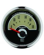 "2-1/16"" VOLTMETER, 8-18V, AIR-CORE, CRUISER"