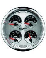 "5"" QUAD GAUGE, 100 PSI/100-250 °F/8-18V/0-90 Ω, AMERICAN MUSCLE"