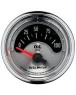 "2-1/16"" OIL PRESSURE, 0-100 PSI, AIR-CORE, AIR-CORE, AMERICAN MUSCLE"
