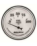 "2-1/16"" OIL PRESSURE, 0-100 PSI, AIR-CORE, OLD-TYME WHITE II"