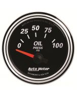 "2-1/16"" OIL PRESSURE, 0-100 PSI, AIR-CORE, DESIGNER BLACK II"