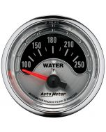 """2-1/16"""" WATER TEMPERATURE, 100-250 °F, AIR-CORE, AMERICAN MUSCLE"""
