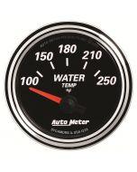 """2-1/16"""" WATER TEMPERATURE, 100-250 °F, AIR-CORE, DESIGNER BLACK II"""