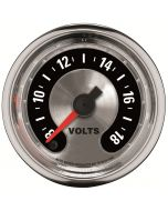 "2-1/16"" VOLTMETER, 8-18V, DIGITAL STEPPER MOTOR, AMERICAN MUSCLE"