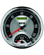 """5"""" TACHOMETER/SPEEDOMETER COMBO, 8K RPM/120 MPH, ELECTRIC, AMERICAN MUSCLE"""