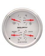 """5"""" QUAD GAUGE, 100 PSI/100-250 °F/8-18V/240-33 Ω, ARCTIC WHITE"""