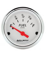"""2-1/16"""" FUEL LEVEL, 0-90 Ω, AIR-CORE, GM, ARCTIC WHITE"""