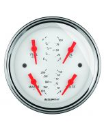 """5"""" QUAD GAUGE, 100 PSI/100-250 °F/8-18V/0-90 Ω, ARCTIC WHITE"""