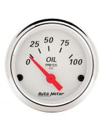"2-1/16"" OIL PRESSURE, 0-100 PSI, AIR-CORE, ARCTIC WHITE"