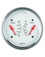 "3-3/8"" DUAL GAUGE, 100-250 °F/8-18V, ARCTIC WHITE"