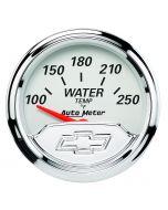 "2-1/16"" WATER TEMPERATURE, 100-250 °F, CHEVROLET HERITAGE BOWTIE"