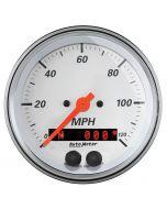 """3-3/8"""" GPS SPEEDOMETER, 0-120 MPH, ARCTIC WHITE"""