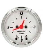 """2-1/16"""" CLOCK, 12 HOUR, ARCTIC WHITE"""