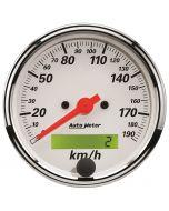 "3-1/8"" SPEEDOMETER, 0-190 KM/H, ELECTRIC, ARCTIC WHITE"