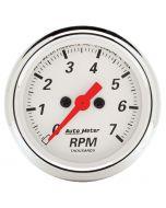 """2-1/16"""" IN-DASH TACHOMETER, 0-7,000 RPM, ARCTIC WHITE"""