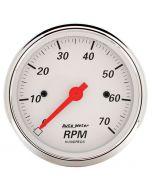 """3-1/8"""" IN-DASH TACHOMETER, 0-7,000 RPM, ARCTIC WHITE"""