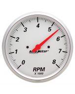 """5"""" IN-DASH TACHOMETER, 0-8,000 RPM, ARCTIC WHITE"""