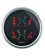 """3-3/8"""" QUAD GAUGE, 100 PSI/100-250 °F/8-18V/0-90 Ω, DESIGNER BLACK"""