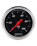"2-1/16"" OIL PRESSURE, 0-100 PSI, MECHANICAL, DESIGNER BLACK"