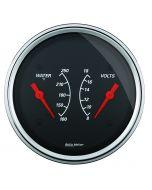 """3-3/8"""" DUAL GAUGE, 100-250 °F/8-18V, DESIGNER BLACK"""