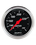 "2-1/16"" WATER TEMPERATURE, 120-240 °F, 6 FT., MECHANICAL, DESIGNER BLACK"