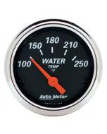 """2-1/16"""" WATER TEMPERATURE, 100-250 °F, AIR-CORE, DESIGNER BLACK"""