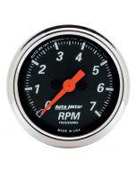 """2-1/16"""" IN-DASH TACHOMETER, 0-7,000 RPM, DESIGNER BLACK"""