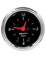 """2-1/16"""" CLOCK, 12 HOUR, DESIGNER BLACK"""