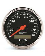 "3-1/8"" SPEEDOMETER, 0-190 KM/H, ELECTRIC, DESIGNER BLACK"
