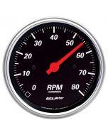 """3-3/8"""" IN-DASH TACHOMETER, 0-8,000 RPM, DESIGNER BLACK"""