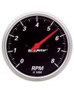 """5"""" IN-DASH TACHOMETER, 0-8,000 RPM, DESIGNER BLACK"""