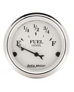"""2-1/16"""" FUEL LEVEL, 73-10 Ω, AIR-CORE, OLD TYME WHITE"""