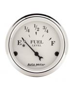"""2-1/16"""" FUEL LEVEL, 240-33 Ω, AIR-CORE, OLD TYME WHITE"""
