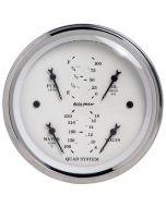 """3-3/8"""" QUAD GAUGE, 100 PSI/100-250 °F/8-18V/240-33 Ω, OLD-TYME WHITE"""