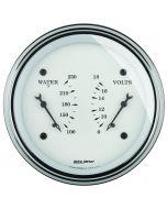 """3-3/8"""" DUAL GAUGE, 100-250 °F/8-18V, OLD-TYME WHITE"""