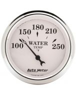 """2-1/16"""" WATER TEMPERATURE, 100-250 °F, AIR-CORE, OLD-TYME WHITE"""