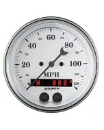 """3-3/8"""" GPS SPEEDOMETER, 0-120 MPH, OLD-TYME WHITE"""